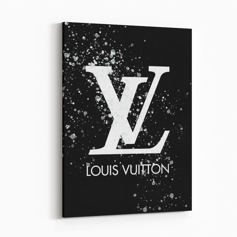 LV on Black & White Bubble Splashes