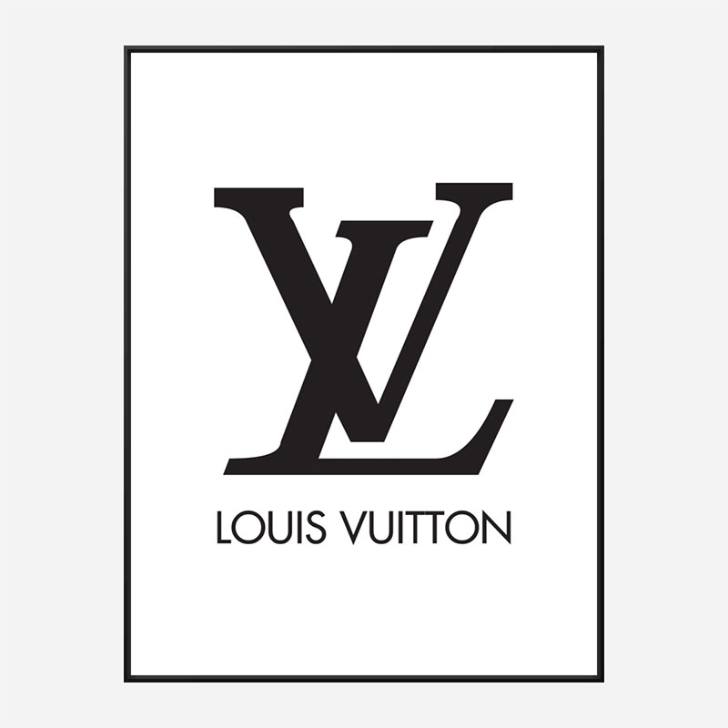 LV Logo Black & White Wall Art