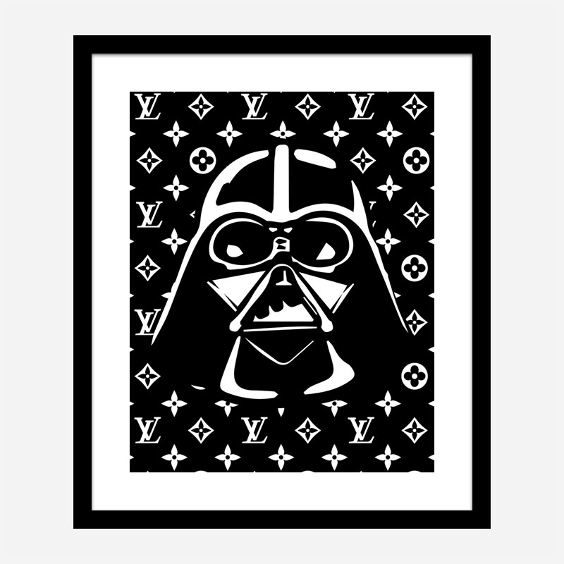 Darth Vader LV Black Wall Art