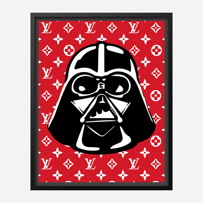 Darth Vader LV Red Wall Art