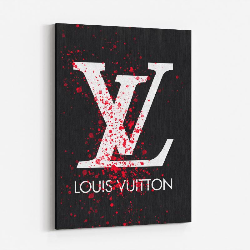 LV Red Splatter Art Print