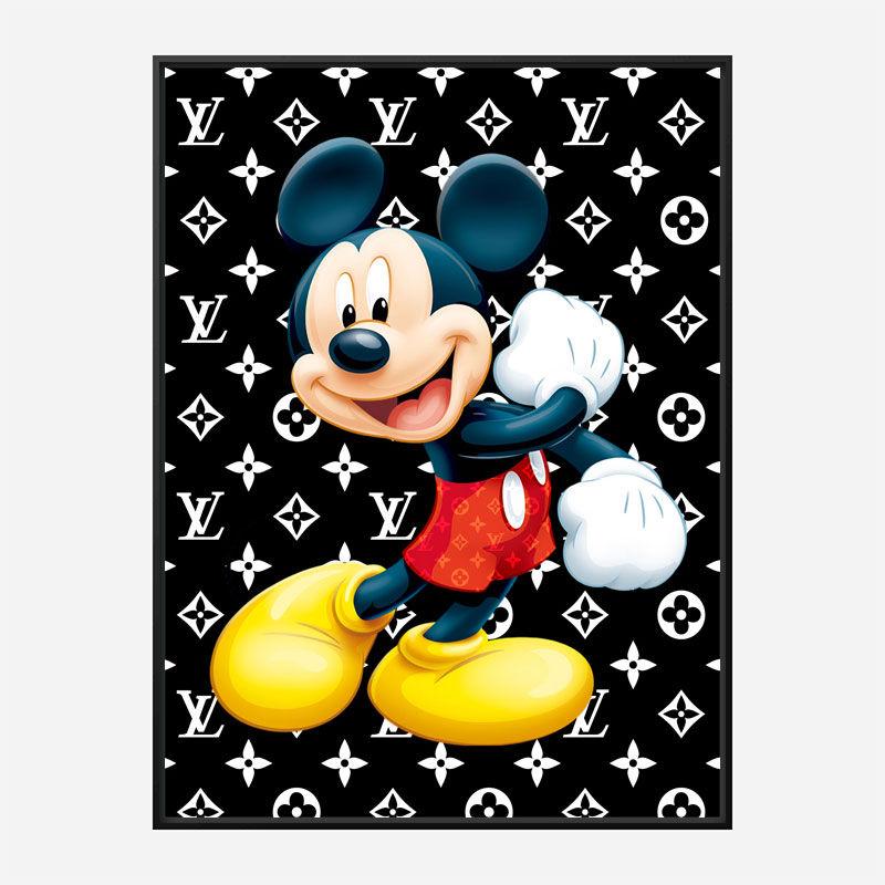 LV Mickey Art Print
