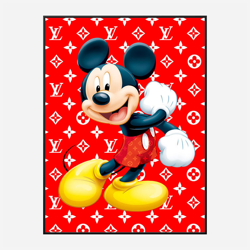 LV Mickey Red Art Print