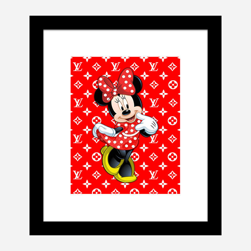LV Minnie Red Art Print