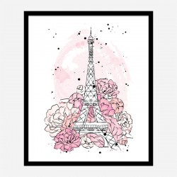 Eiffel Tower in Blossom Art Print