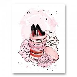 Macaroon Shoes Art Print