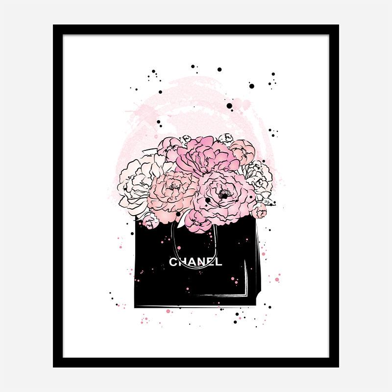 Chanel Flowers Art Print