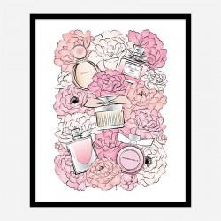 Perfume and Flowers Art Print