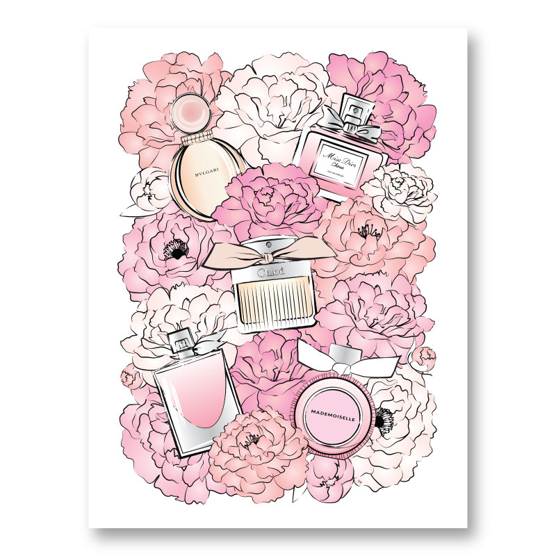 Perfume and Flowers Art Print