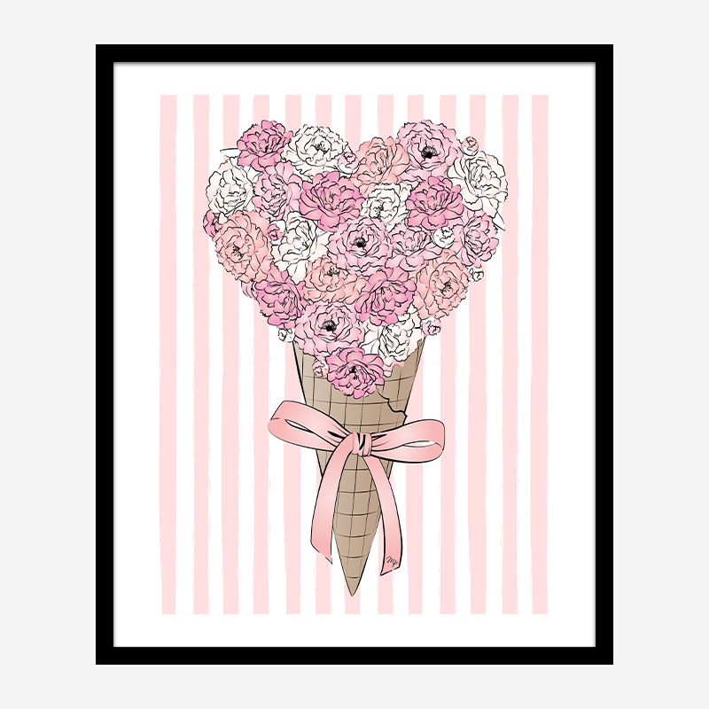 Ice Cream Flowers Art Print