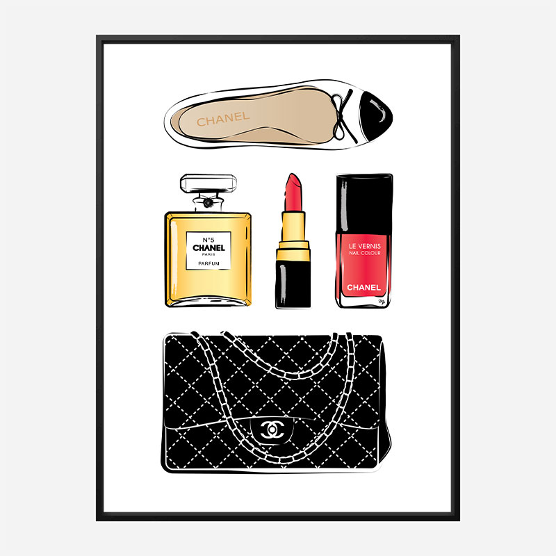 Chanel Essentials Art Print