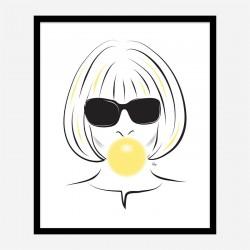 Anna Wintour Bubble Gum Art Print