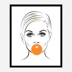 Twiggy Bubble Gum Art Print