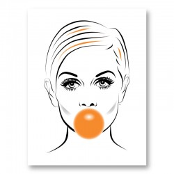 Twiggy Bubble Gum Art Print