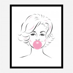 Marilyn Monroe Bubble Gum Art Print