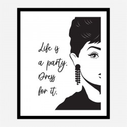 Life is a Party Dress Art Print