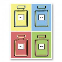 Warhol Perfumes Art Print