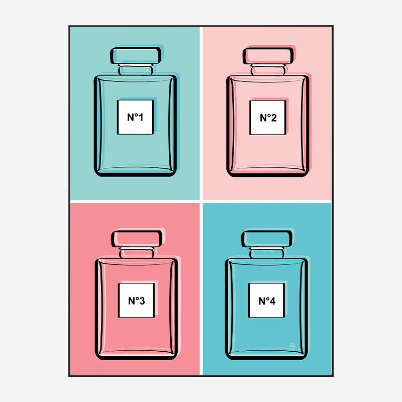 Pastel Perfumes Art Print