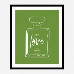 Green Love Art Print
