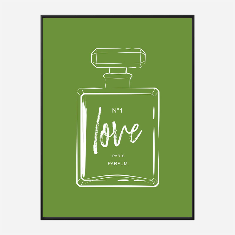 Green Love Art Print