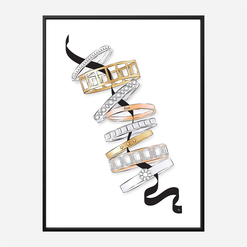 Fashion Bracelets Art Print