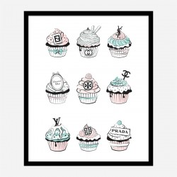 Fashion Cupcakes Art Print