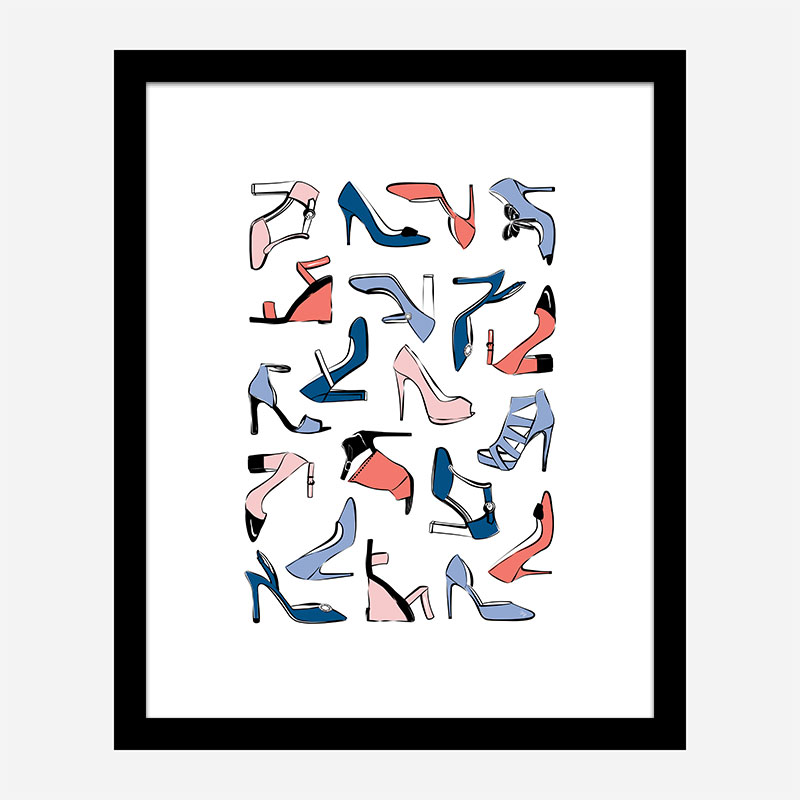 Shoe Collection Art Print