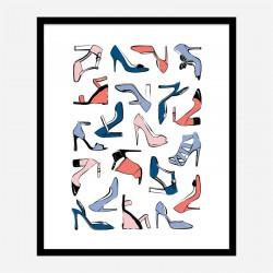 Shoe Collection Art Print