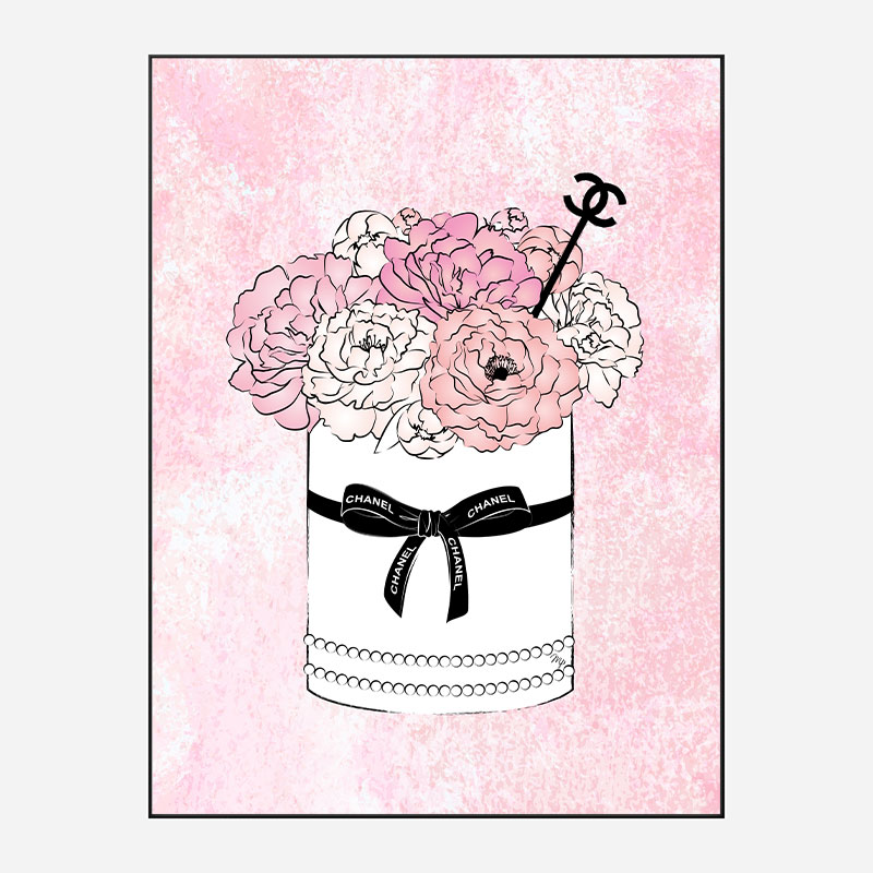 Chanel Flowers Art Print