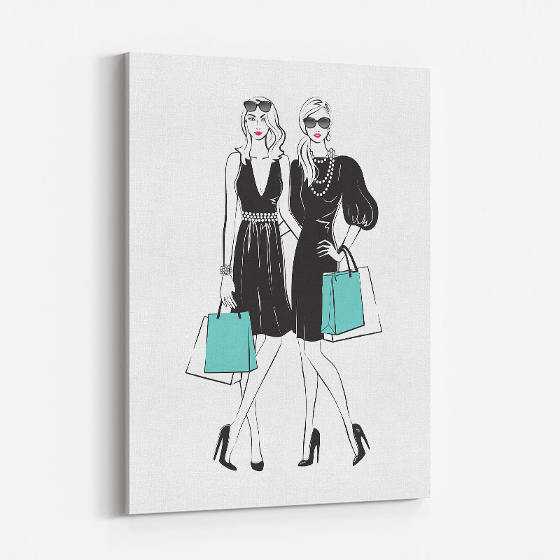 Stylish Friends Art Print