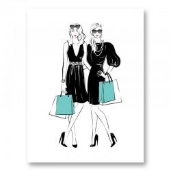 Stylish Friends Art Print