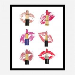Lipstick Kisses Art Print