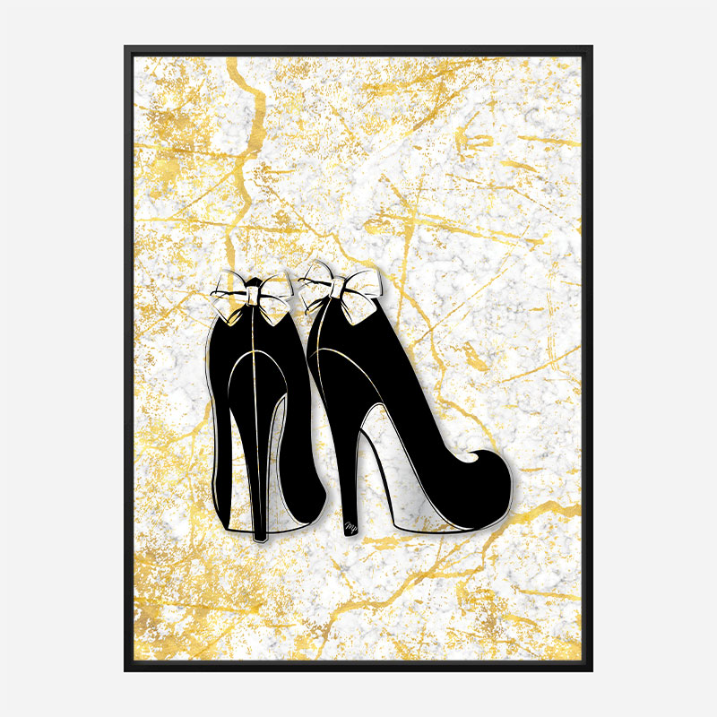 Marble Heels Art Print