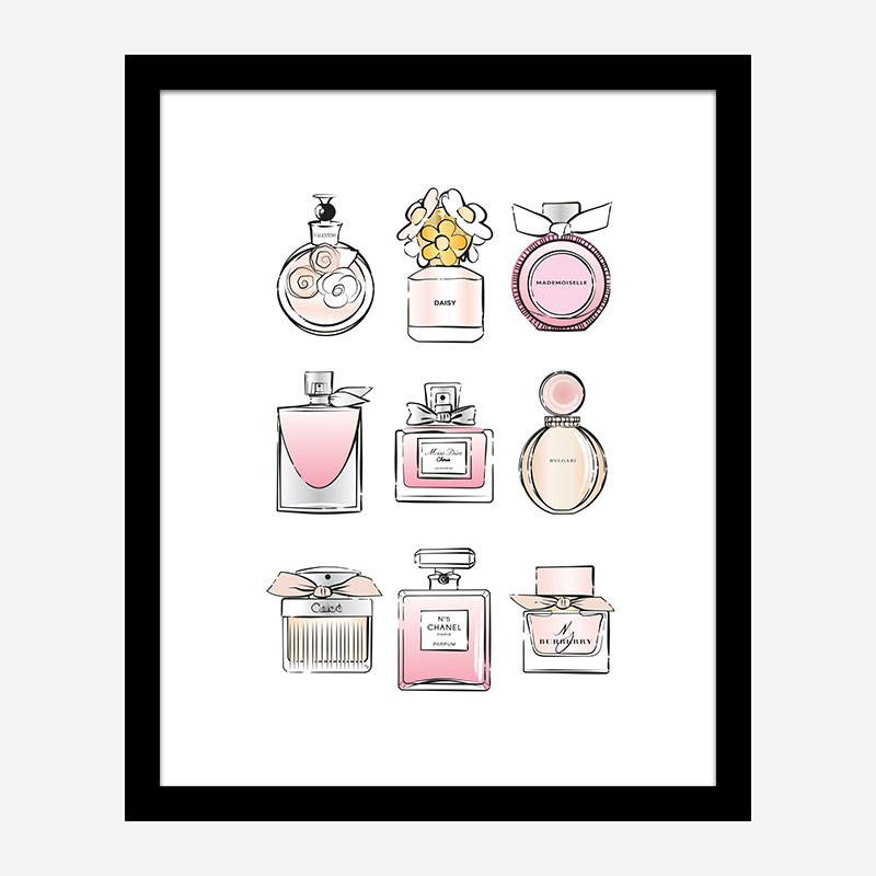 Fashion Perfumes Art Print
