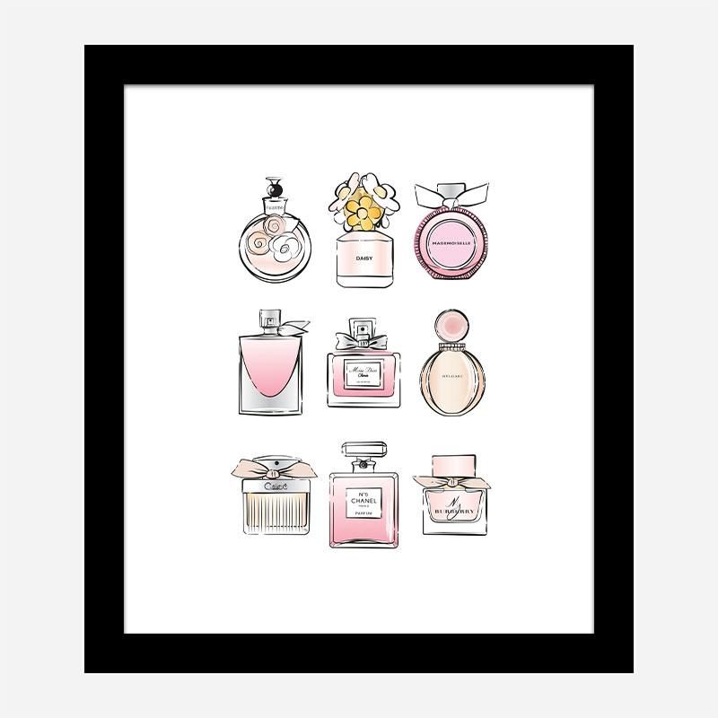Fashion Perfumes Art Print
