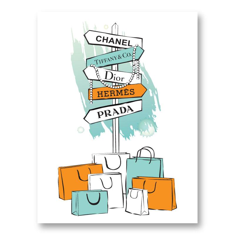 Signs of Fashion Art Print