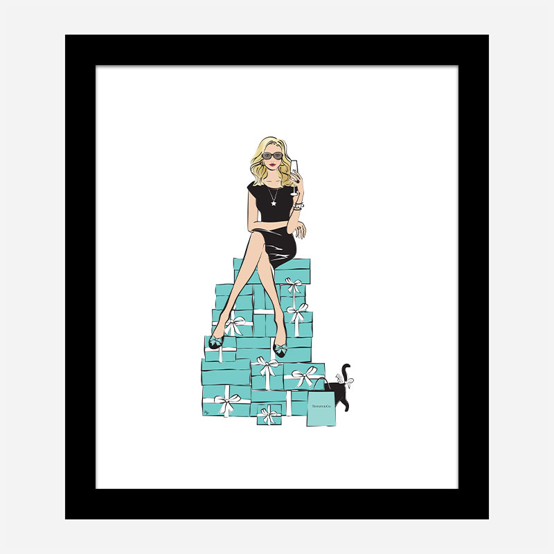 Sitting on Gifts Art Print