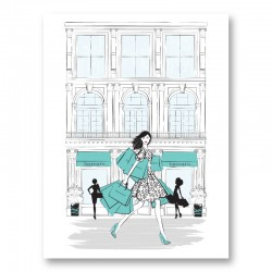 Shopping for Tiffany Art Print