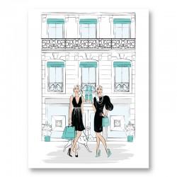Ladies That Shop Art Print