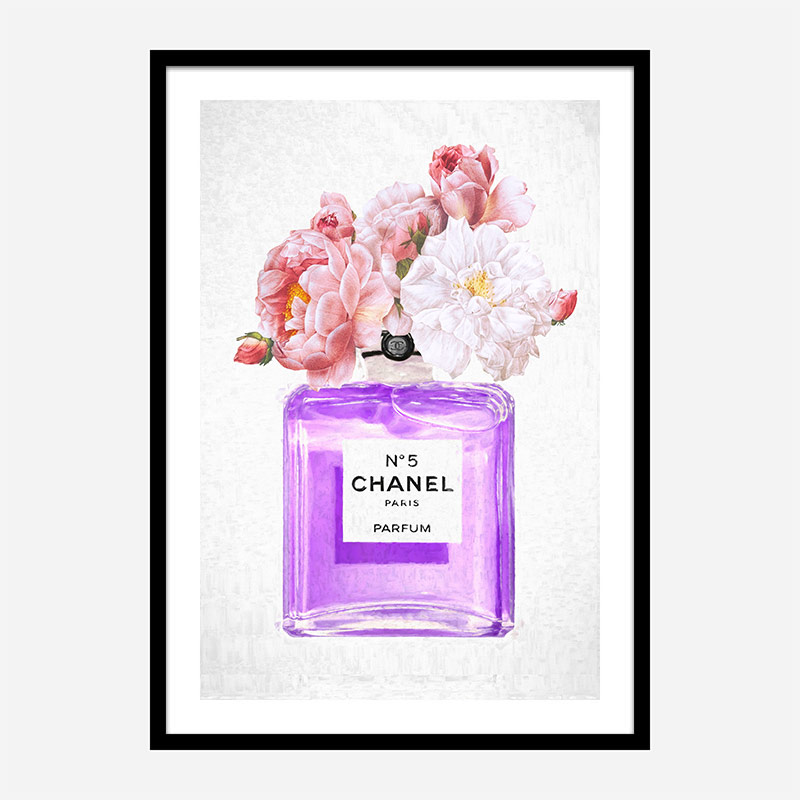 Chanel No 5 Perfume Flowers in Purple
