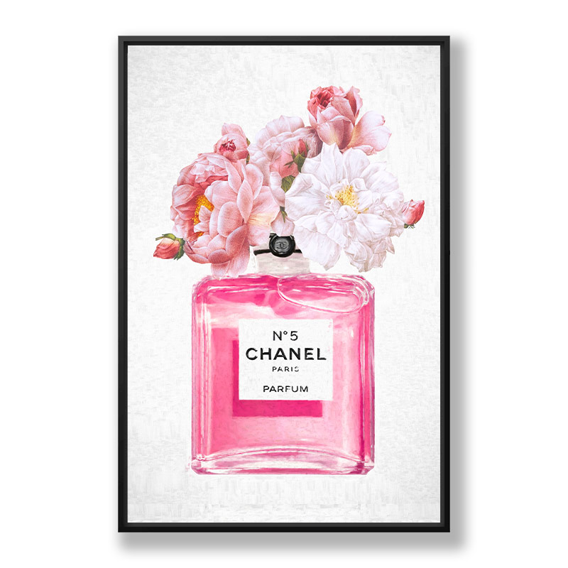 Chanel No 5 Perfume Flowers in Pink