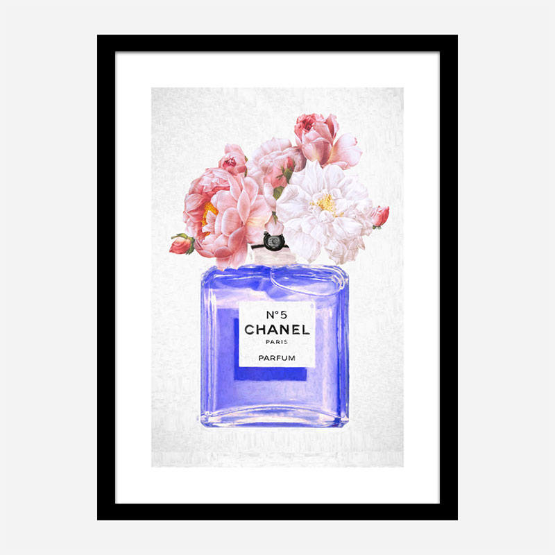 Chanel No 5 Perfume Flowers in Blue