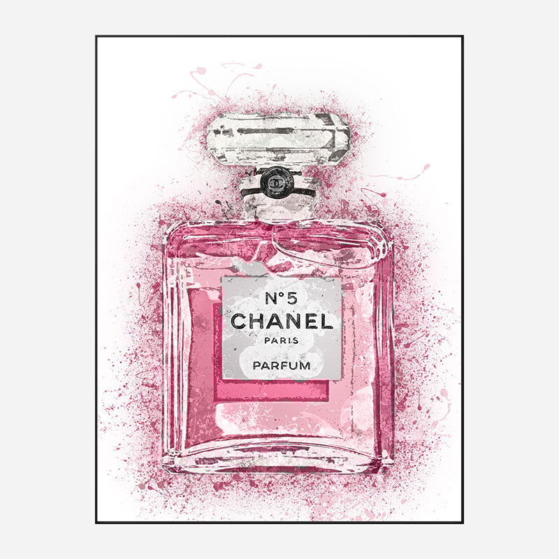 Pink Chanel No 5 Art Print