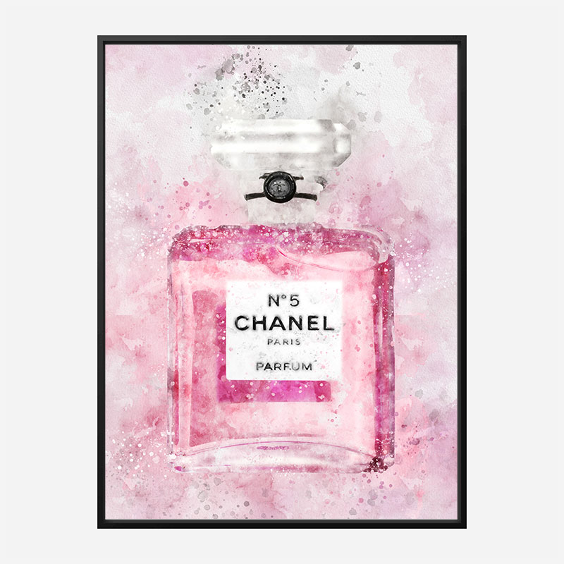 Pink Chanel No 5 Abstract Art Print