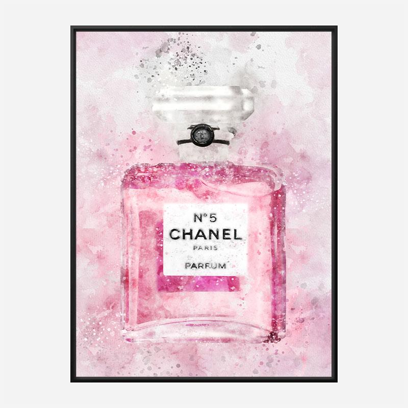 Pink Chanel No 5 Abstract Art Print