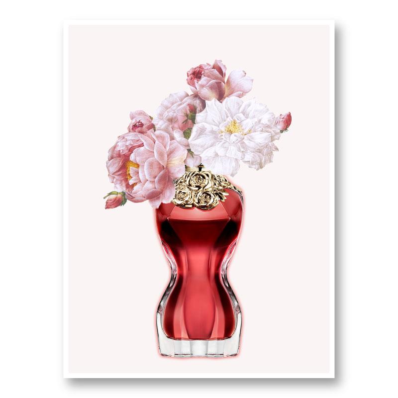 Le Belle Perfume Flowers Art Print