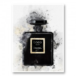 Coco Noir Water Color Art Print