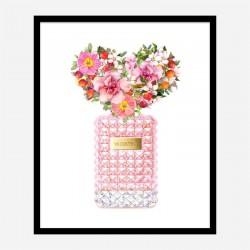 Donna Rosa Perfume Heart Flowers Art Print