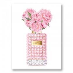 Donna Rosa Perfume Pink Art Print