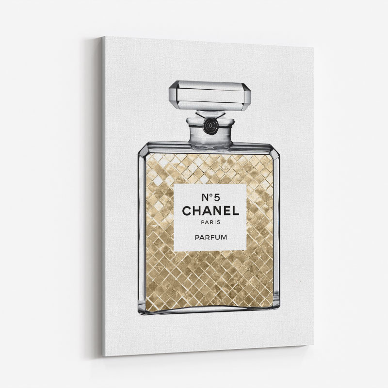 Champagne Gold in Chanel Perfume Art Print